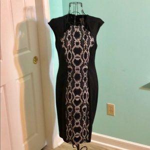 Little Black Dress. With snake print center panel.